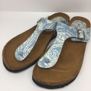 American Eagle T-strap Sandals with Cork Bottom